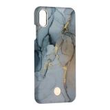 Чехол-накладка KINGXBAR для iPhone XS Max (6.5) пластик со стразами Swarovski (Мрамор-светлый)