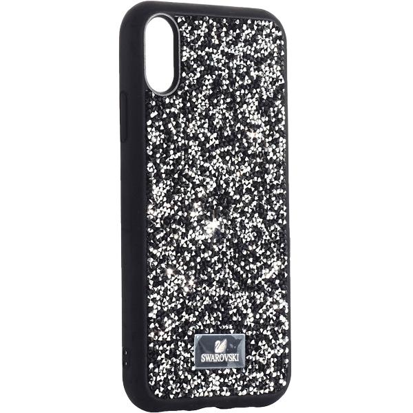 Чехол-накладка силиконовая со стразами SWAROVSKI Crystalline для iPhone XR (6.1) Черный №3