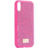 Чехол-накладка силиконовая со стразами SWAROVSKI Crystalline для iPhone XR (6.1) Розовый