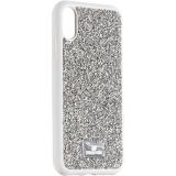Чехол-накладка силиконовая со стразами SWAROVSKI Crystalline для iPhone XR (6.1) Светло-серый