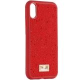 Чехол-накладка силиконовая со стразами SWAROVSKI Crystalline для iPhone XR (6.1) Красный №4