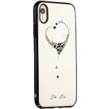 Чехол-накладка KINGXBAR для iPhone XR (6.1) пластик со стразами Swarovski 49F черный (The One)