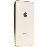 Чехол-накладка для iPhone XR (6.1) стеклянный имитация задней крышки Золотой