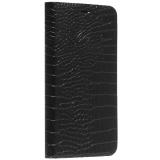 Чехол-книжка кожаный Peacocktion Crocodile Genuine Leather для iPhone 11 (6.1) 2019 г. (SH2IPXIRBLK) Черный