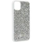 Чехол-накладка силиконовая со стразами SWAROVSKI Crystalline для iPhone 11 (6.1) Светло-серый