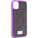 Чехол-накладка силиконовая со стразами SWAROVSKI Crystalline для iPhone 11 (6.1) Ультрафиолет №2