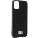 Чехол-накладка силиконовая со стразами SWAROVSKI Crystalline для iPhone 11 (6.1) Черный №5