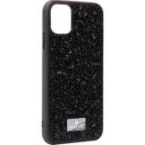 Чехол-накладка силиконовая со стразами SWAROVSKI Crystalline для iPhone 11 (6.1) Черный №6