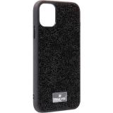 Чехол-накладка силиконовая со стразами SWAROVSKI Crystalline для iPhone 11 (6.1) Черный №7