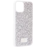 Чехол-накладка силиконовая со стразами SWAROVSKI Crystalline для iPhone 11 Pro (5.8) Светло-серый