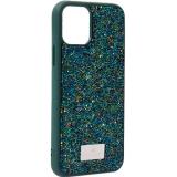 Чехол-накладка силиконовая со стразами SWAROVSKI Crystalline для iPhone 11 Pro (5.8) Темно-зеленый №2