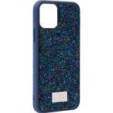 Чехол-накладка силиконовая со стразами SWAROVSKI Crystalline для iPhone 11 Pro (5.8) Темно-синий №5