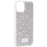 Чехол-накладка силиконовая со стразами SWAROVSKI Crystalline для iPhone 11 Pro Max (6.5) Светло-серый