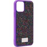 Чехол-накладка силиконовая со стразами SWAROVSKI Crystalline для iPhone 11 Pro Max (6.5) Ультрафиолет №2
