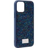 Чехол-накладка силиконовая со стразами SWAROVSKI Crystalline для iPhone 11 Pro Max (6.5) Темно-синий №5