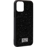 Чехол-накладка силиконовая со стразами SWAROVSKI Crystalline для iPhone 11 Pro Max (6.5) Черный №6