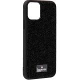 Чехол-накладка силиконовая со стразами SWAROVSKI Crystalline для iPhone 11 Pro Max (6.5) Черный №7