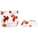 Чехол пластиковый Kingxbar для AirPods 2 со стразами Swarovski Красные цветы