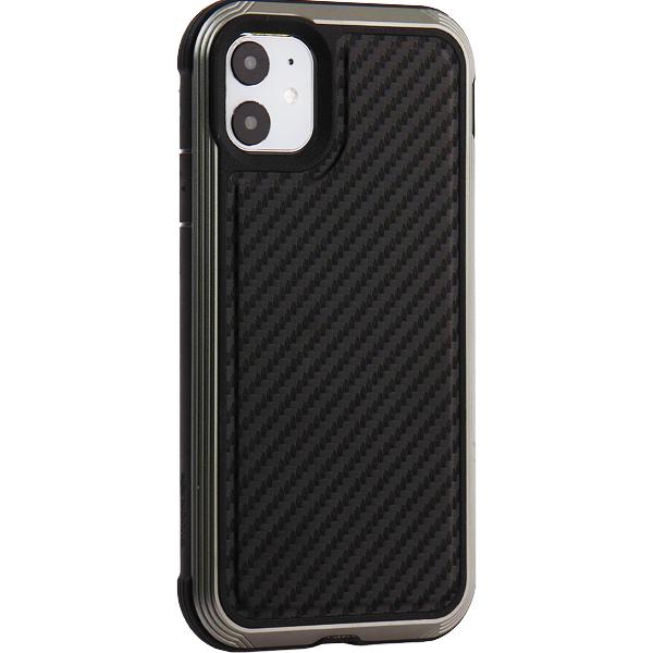 Чехол-накладка противоударный X-DORIA Defense Lux (370400112009) карбон для iPhone 11 (6.1) Черный