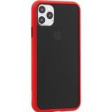 Чехол-накладка пластиковый KeepHone Armor Series для iPhone 11 Pro Max (6.5) с силиконовыми бортами Красный