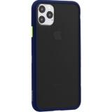 Чехол-накладка пластиковый KeepHone Armor Series для iPhone 11 Pro Max (6.5) с силиконовыми бортами Темно-синий