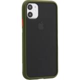 Чехол-накладка пластиковый KeepHone Armor Series для iPhone 11 (6.1) с силиконовыми бортами Болотный