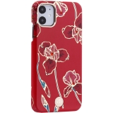 Чехол-накладка KINGXBAR для iPhone 11 (6.1) пластик со стразами Swarovski (Красные цветы)