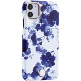 Чехол-накладка KINGXBAR для iPhone 11 (6.1) пластик со стразами Swarovski (Орхидея)