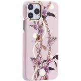Чехол-накладка KINGXBAR для iPhone 11 Pro (5.8) пластик со стразами Swarovski (Сахарная пудра) розовый