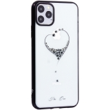 Чехол-накладка KINGXBAR для iPhone 11 Pro Max (6.5) пластик со стразами Swarovski 49F черный (The One)