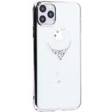Чехол-накладка KINGXBAR для iPhone 11 Pro Max (6.5) пластик со стразами Swarovski 49F серебристый (The One)