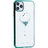 Чехол-накладка KINGXBAR для iPhone 11 Pro Max (6.5) пластик со стразами Swarovski 49F зеленый (The One)