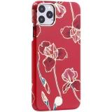 Чехол-накладка KINGXBAR для iPhone 11 Pro Max (6.5) пластик со стразами Swarovski (Красные цветы)