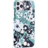 Чехол-накладка KINGXBAR для iPhone 11 Pro Max (6.5) пластик со стразами Swarovski (Цветочная фея) зеленый