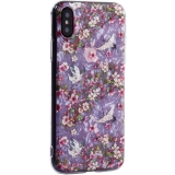 Чехол-накладка пластиковый Fashion Case для iPhone X (5.8) с силиконовыми бортами Розовый вид №1