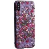 Чехол-накладка пластиковый Fashion Case для iPhone X (5.8) с силиконовыми бортами Розовый вид №2