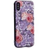 Чехол-накладка пластиковый Fashion Case для iPhone X (5.8) с силиконовыми бортами Розовый вид №3