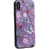 Чехол-накладка пластиковый Fashion Case для iPhone X (5.8) с силиконовыми бортами Розовый вид №5