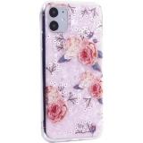 Чехол-накладка пластиковый Fashion Case для iPhone 11 (6.1) с силиконовыми бортами Розовый вид №3