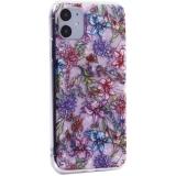 Чехол-накладка пластиковый Fashion Case для iPhone 11 (6.1) с силиконовыми бортами Розовый вид №6