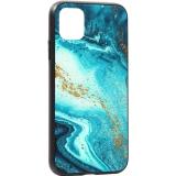 Чехол-накладка закаленное стекло Deppa Glass Case D-87263 для iPhone 11 (6.1) 2.0 мм Голубой Агат