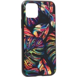 Чехол-накладка закаленное стекло Deppa Glass Case D-87252 для iPhone 11 Pro (5.8) 2.0мм Листья