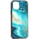 Чехол-накладка закаленное стекло Deppa Glass Case D-87253 для iPhone 11 Pro (5.8) 2.0 мм Голубой Агат