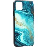 Чехол-накладка закаленное стекло Deppa Glass Case D-87267 для iPhone 11 Pro Max (6.5) 2.0мм Голубой Агат