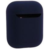 Чехол силиконовый COTEetCI для AirPods 2 Liquid Silicone + PP Case (CS8136-BL) Темно синий