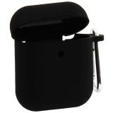 Чехол Silicone Case COTEetCI (AP16) для AirPods 2 с карабином (CS8131-BK) Черный