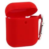 Чехол Silicone Case COTEetCI (AP16) для AirPods 2 с карабином (CS8131-RD) Красный
