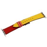 Ремешок кожаный COTEetCI W36 Fashoin Leather (WH5260-40-ACR) для Apple Watch 38 мм (short) Желтый-Красный