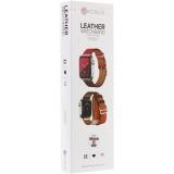 Ремешок кожаный COTEetCI W36 Fashoin Leather (WH5261-40-ACR) для Apple Watch 38 мм (Long) Желтый-Красный