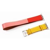 Ремешок кожаный COTEetCI W36 Fashoin Leather (WH5261-44-ACR) для Apple Watch 42 мм (Long) Желтый-Красный